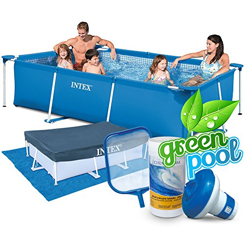 aufstellpool intex 28272 6in1 set green. Black Bedroom Furniture Sets. Home Design Ideas