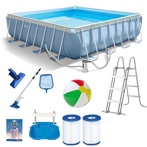 Aufstellpool intex prism frame komplett set mit for Pool reparaturset folie