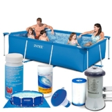 7in1 Set Rectangular Frame Pool 300 x 200 x 75 cm mit Zubehör INTEX 28272 -
