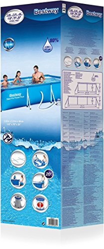 Bestway Steel Pro Splash Frame Pool Set mit Filterpumpe, 300 x 201 x 66cm -