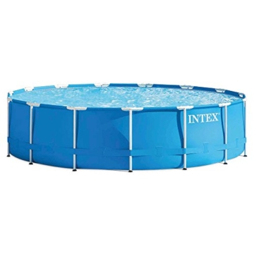 Intex Aufstellpool Frame Pool Set Rondo, Blau, Ø 457 x 107 cm -