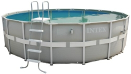 Intex Aufstellpool Frame Pool Set Ultra Rondo, Grau, Ø 488 x 122 cm -