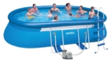 Intex Aufstellpool Oval Frame Pool Set, Blau, 549 x 305 x 107 cm -