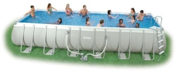 Intex Swimming Pool Rechteck Stahlwand Frame Schwimmbad 732 x 366 x 132cm 28362GS -