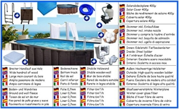 Holzbecken Giant Wood All-In Set oval 4,00m x 6,40m x 1,38m Folie 0,7mm Holzpool Pools Ovalbecken Ovalpool - 1